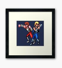 Double Dragon Brothers Framed Print