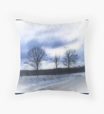 Snowy Day  Throw Pillow