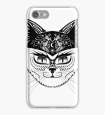 Patterned hipster cat iPhone Case/Skin