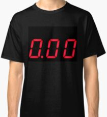 Digital number zero on a screen Classic T-Shirt