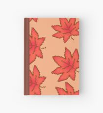 Autumn Maple Leaves Pattern Hardcover Journal