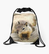 Young Ground Squirrel Drawstring Bag