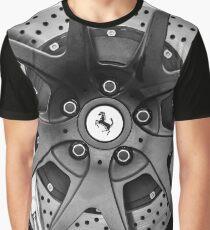 Ferrari Wheel Emblem - Brake Emblem -0430bw Graphic T-Shirt