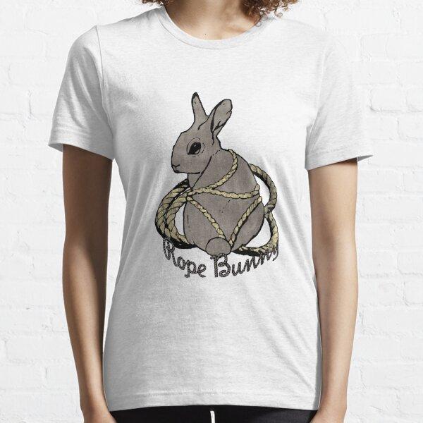 """Rope Bunny"" Shibari Japanese Rope Bondage (Gray) Essential T-Shirt"