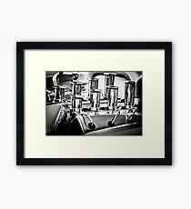 1956 Chrysler Hot Rod Engine -024bw Framed Print