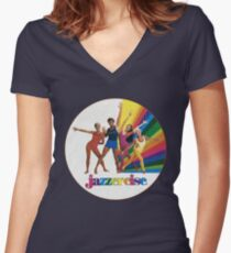 Jazzercise Women's Fitted V-Neck T-Shirt