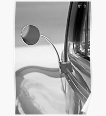 1940 Ford Deluxe Coupe Rear View Mirror -0388bw Poster