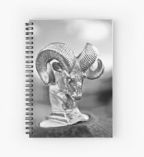 Dodge Ram Hood Ornament-049bw Spiral Notebook