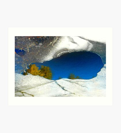 Oasis in the Ice Art Print