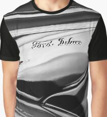 1940 Ford Deluxe Emblem -0280bw Graphic T-Shirt