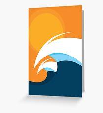 Morning Peaks | Wave Art Greeting Card