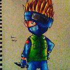 the chibi ninja by Grekoarts