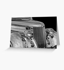 1936 Ford - Stainless Steel Body -0371bw Greeting Card