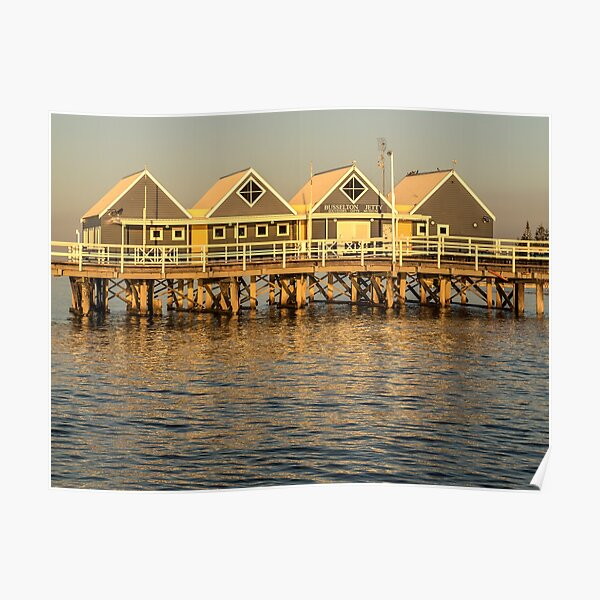 Sunset at the Jetty Poster