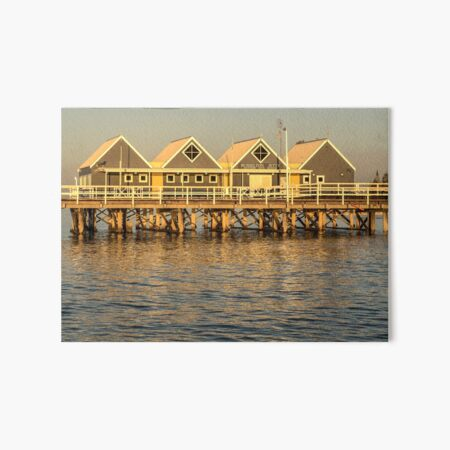 Sunset at the Jetty Art Board Print