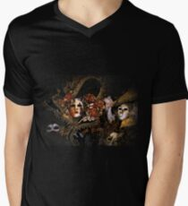 Venice Carnival masquerade, Baroque masks Men's V-Neck T-Shirt