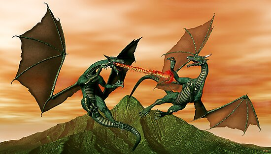 Fighting Dragons by Walter Colvin