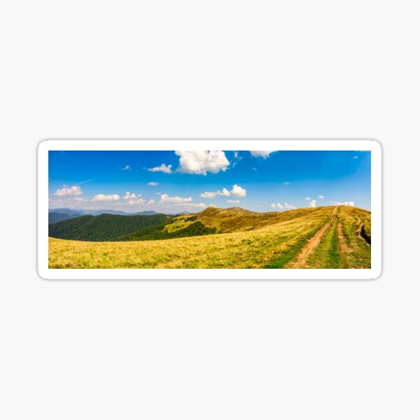path through the Carpathian mountain ridge  Sticker