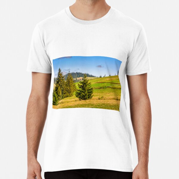 mountain rural area in late springtime Premium T-Shirt