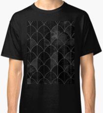 Meerjungfrau Skalen. Schwarz-Weiß-Aquarell. Classic T-Shirt