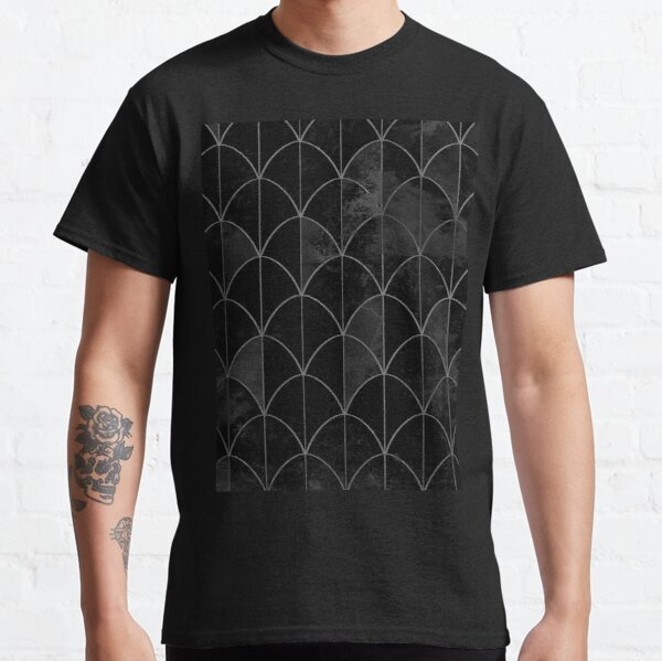 Mermaid scales. Black and white watercolor. Classic T-Shirt