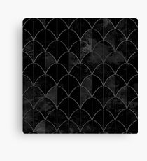 Mermaid scales. Black and white watercolor. Canvas Print