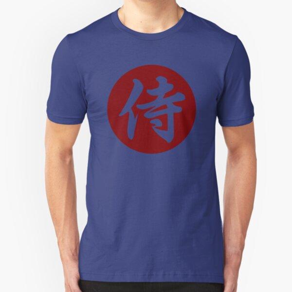 Samurai Kanji Art7 Slim Fit T-Shirt