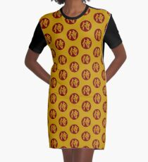 Samurai Kanji Art7 Graphic T-Shirt Dress