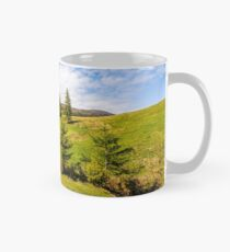 mountain stream among the forest on meadow Mug