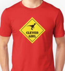 Warning: Clever Girl X-ing Unisex T-Shirt