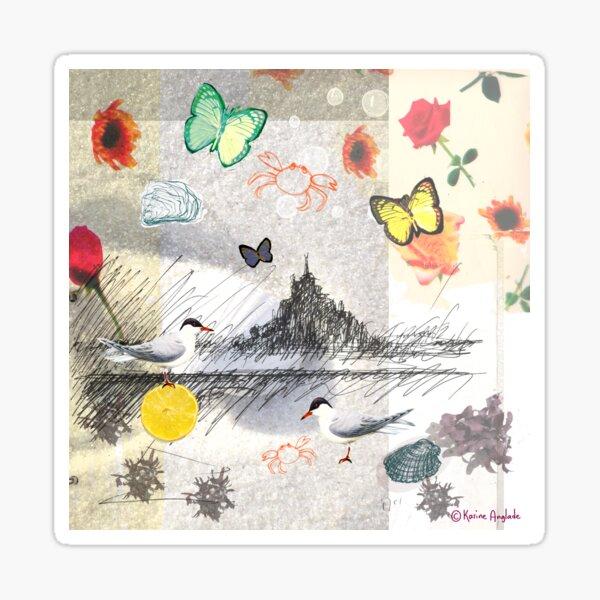 Illustration Mont St Michel Sticker