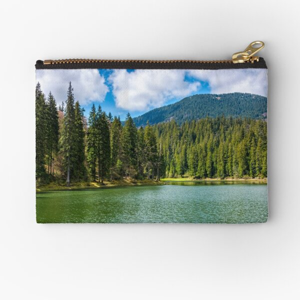 mountain lake Synevir among the forest Zipper Pouch