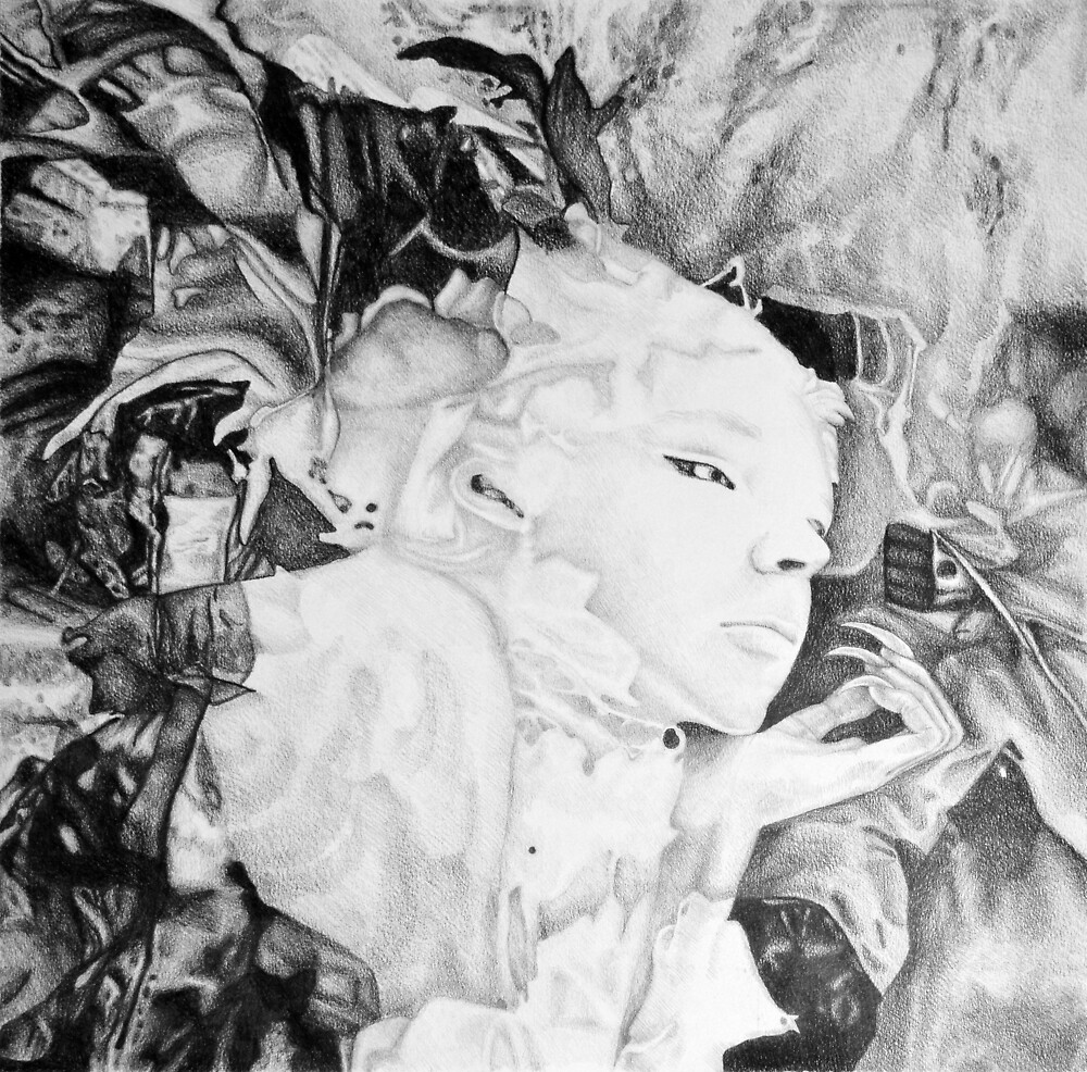 I guess I'm dreaming again, 2017, 50-50cm, graphite crayon on paper by oanaunciuleanu