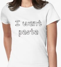 Master of None - I want pasta Womens Fitted T-Shirt