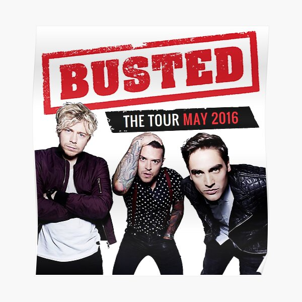 Busted Tour 2016 Poster
