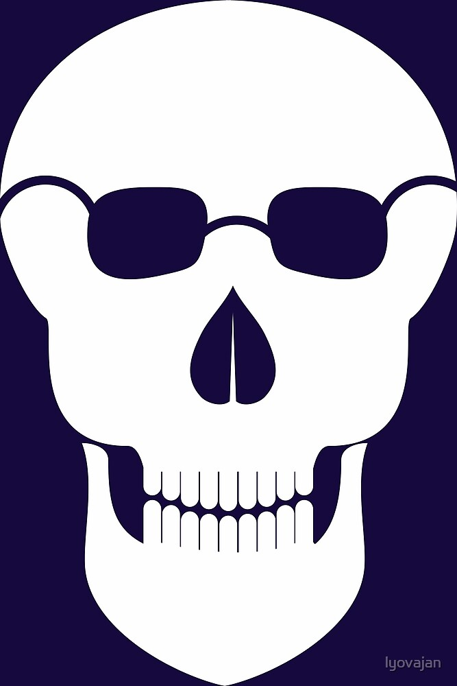 Funny Skull design with glasses #redbubble #decor #buyart #artprint by lyovajan