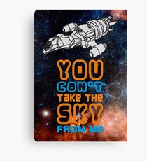 You cant take the sky from me! Canvas Print