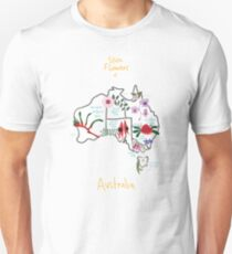 Australia State Flowers Map T-Shirt