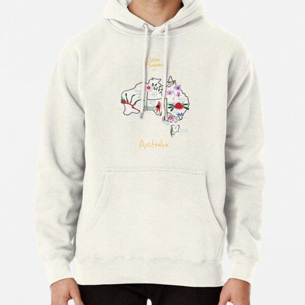 Hooded Sweatshirt Mens Custom Pullover Hoodie Kangaroo Australia Map