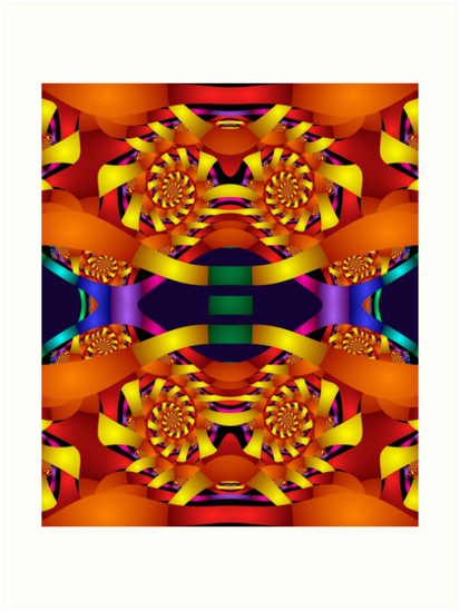 Colourful Fractal Fun by walstraasart