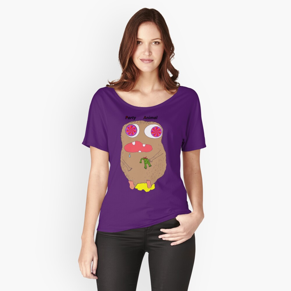 party animal (illution eyes) Women's Relaxed Fit T-Shirt Front