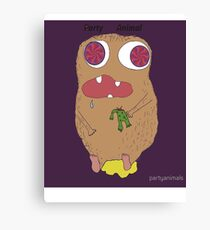 party animal (illution eyes) Canvas Print