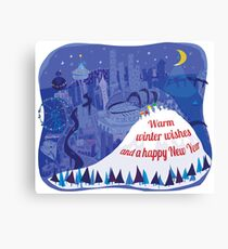 Seattle Holiday Card Canvas Print
