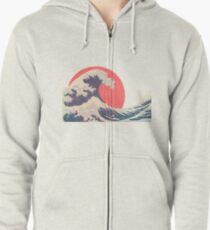 Hokusai revisited Zipped Hoodie