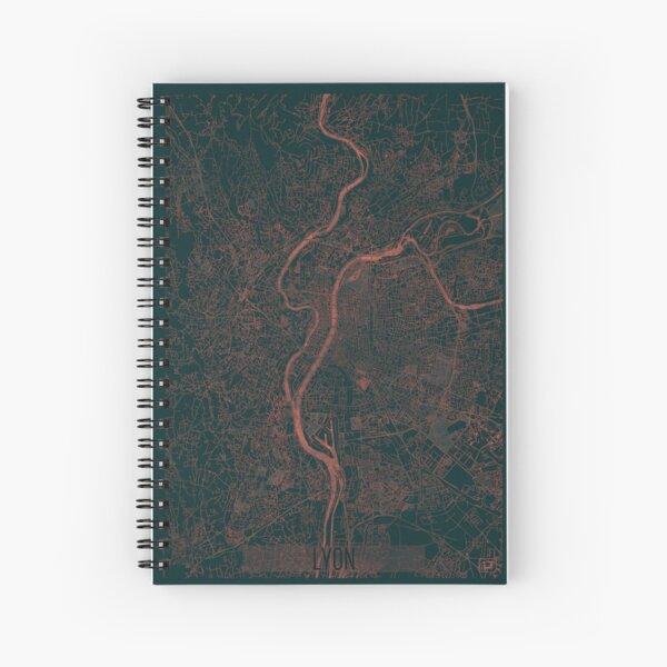 Lyon Map Red Spiral Notebook