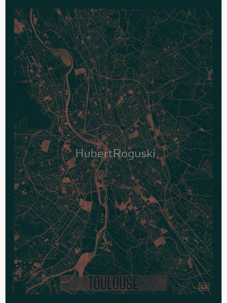 Toulouse Map Red by HubertRoguski
