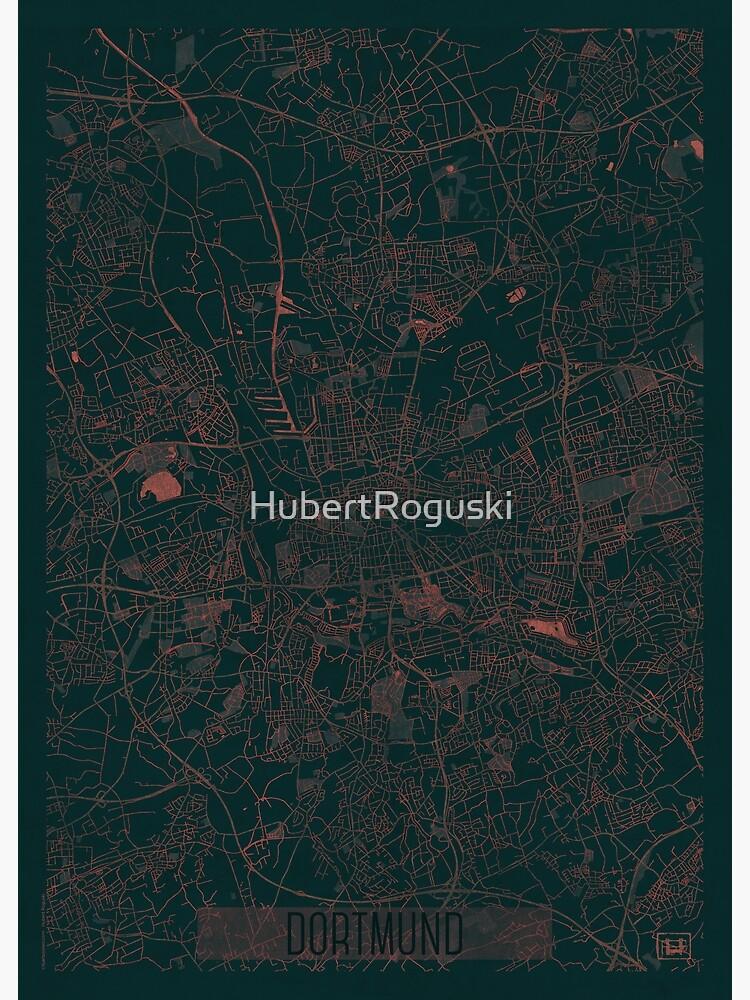 Dortmund Map Red by HubertRoguski