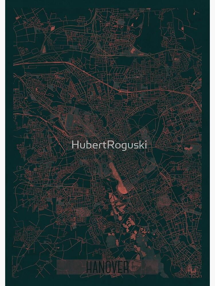 Hanover Map Red by HubertRoguski