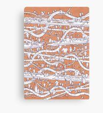 POP Art Orange Canvas Print