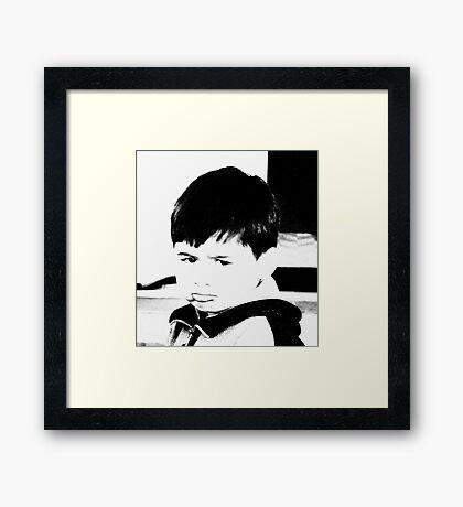 SAD FACE Framed Print